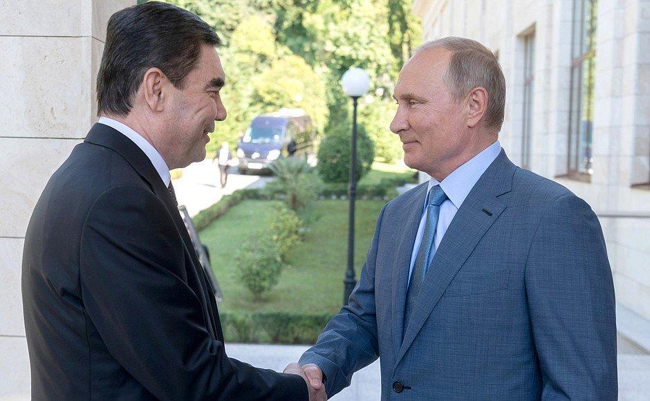 Meeting with President of Turkmenistan Gurbanguly Berdymukhamedov bit.ly/2Mjf7pl