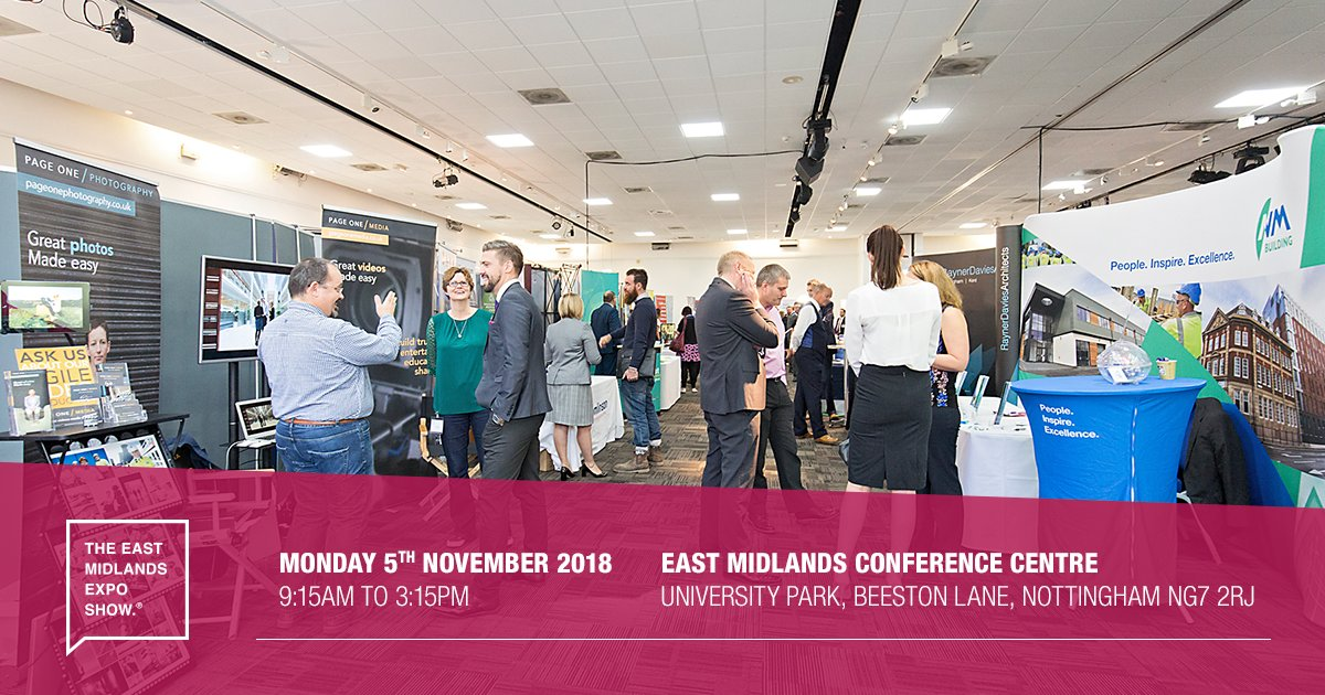 Immense networking and business growth opportunities are available at the show, no matter what level of involvement you decide upon.  #EastMidsHeadsUp <br>http://pic.twitter.com/9aFli4XT97