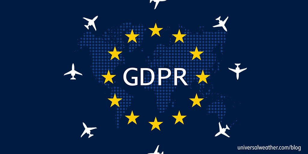 GDPR recently went into effect, and it&#39;s impacting industries around the globe—including #Bizav. In our latest blog post, we cover some areas you need to think about in regards to how GDPR may impact your operation.  http://www. universalweather.com/blog/2018/08/g dpr-and-business-aviation-what-you-need-to-know/ &nbsp; … <br>http://pic.twitter.com/FW5wDGjtMq