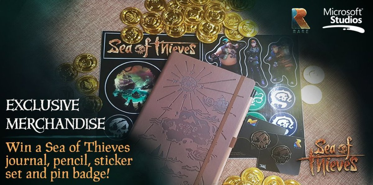 Want to get your mitts on some #SeaOfThieves loot? Well we've got a little stash ready to be plundered by two lucky pirates. Follow us and retweet before 4pm BST tomorrow for a chance to win! #WinWednesday
