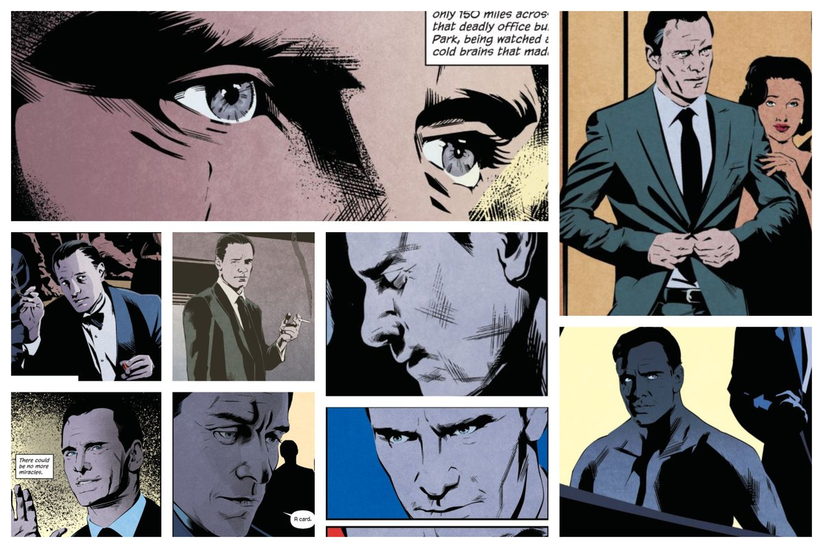 In April 2018 they&#39;ve published the #JamesBond: Casino Royale graphic novel...That face is familiar...I made a collage  #MichaelFassbender #Bond<br>http://pic.twitter.com/LmnGUrPqZ9