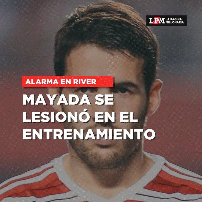 Camilo Mayada sufrió el esguince de su rodilla derecha en el entrenamiento de este miércoles. ¿Vuelve Moreira al once titular de #River?: Foto