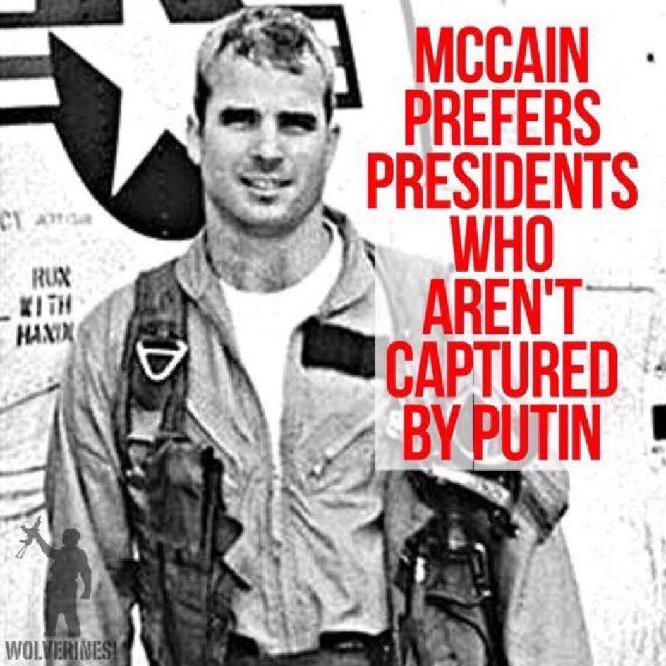 .@realDonaldTrump-Senator McCain prefers presidents who aren't captured by Putin, like you are. <br>http://pic.twitter.com/xHNzS2OfQU