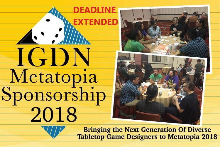 The @OneShotNetwork is matching donations made to the IGDN #METATOPIA Scholarship until 9/10 up to $500 total so donate now to the #GoFundMe campaign to help new designers get a start.  https:// buff.ly/2nwGsFx  &nbsp;  <br>http://pic.twitter.com/n1T29jHCpd