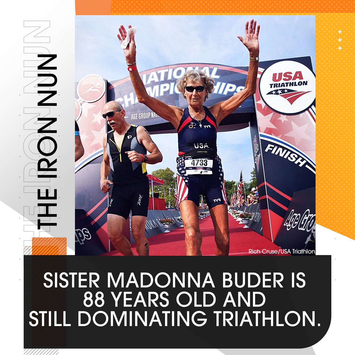 Is there a better nickname than the #IronNun?   Sister Madonna just recently added *another* national championship to her resume and her reaction? 'I'm just a little old lady doing her thing.' 👏👏👏