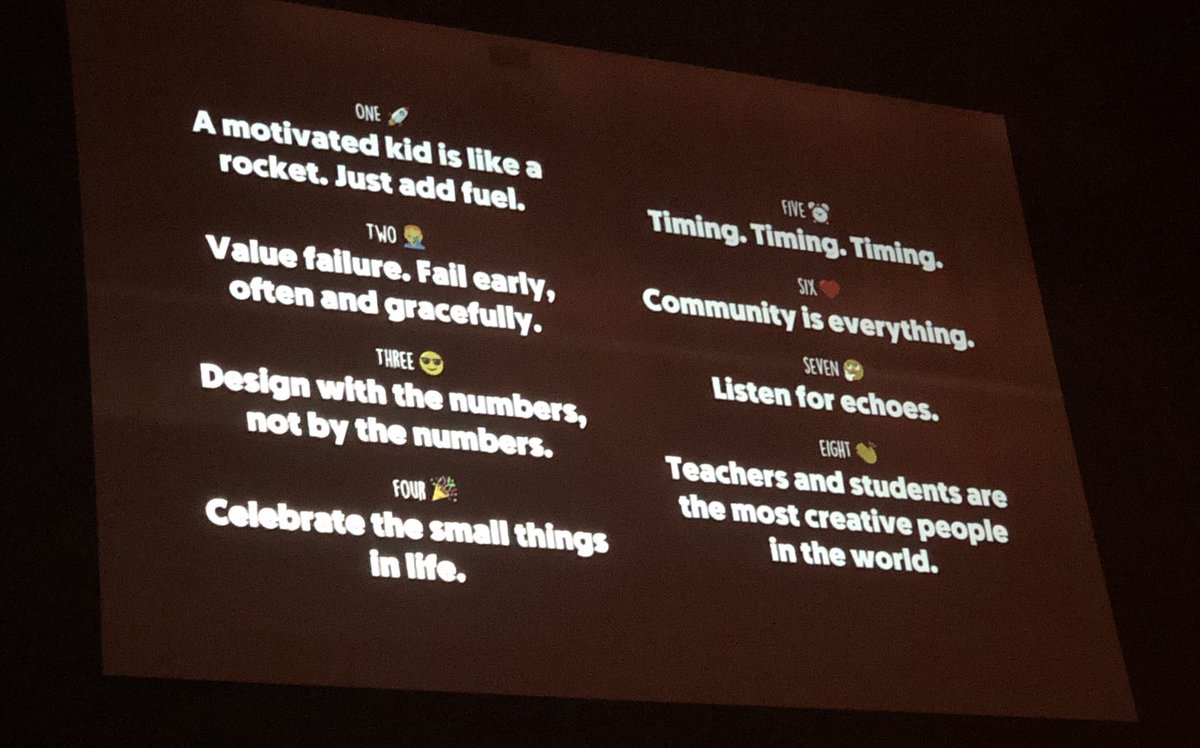 "Simplicity over complexity. It's important for design and for kids! #Design is the power of @iborganization #education. ""Kids are a rocket, just add fuel"" @design2research   #mnibsummer18 #studentvoice @MNIBSchools @MnDeptEd @usedgov @edutopia<br>http://pic.twitter.com/LfzVl958Yp"