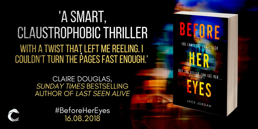 Before Her Eyes is out TOMORROW!  If you haven't pre-ordered yet:  • It's your last chance to grab the ebook for under £3! • It's Waterstones Colchester's Book of the Month • thriller writer extraordinaire @Dougieclaire said this!    https://www. amazon.co.uk/dp/1786494450/ ref=cm_sw_r_cp_awdb_t1_FseDBbRPQBGK6 &nbsp; …   #BeforeHerEyes<br>http://pic.twitter.com/RqmpJpZH0l