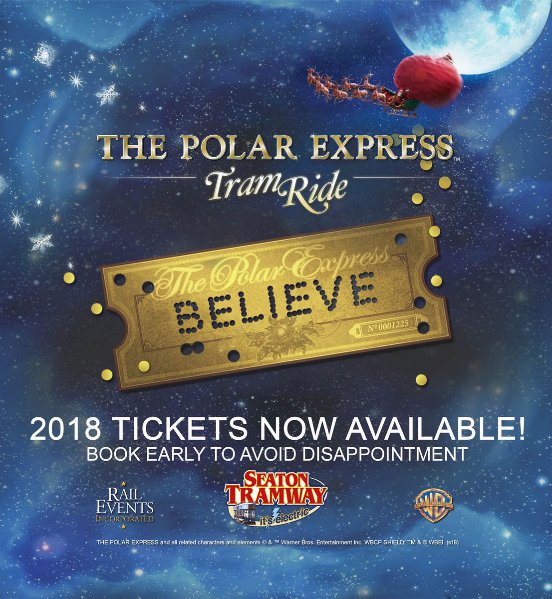 Sshh! THE POLAR EXPRESS™ Tram ride returns once again this Christmas! Tickets are on sale now! We'll be letting everyone know across the country at the end of this month, to be in with a better chance book before the 31st August, BOOK NOW  https://www. tram.co.uk/ThePolarExpres sSeaton &nbsp; … <br>http://pic.twitter.com/UNaJSk1mlA