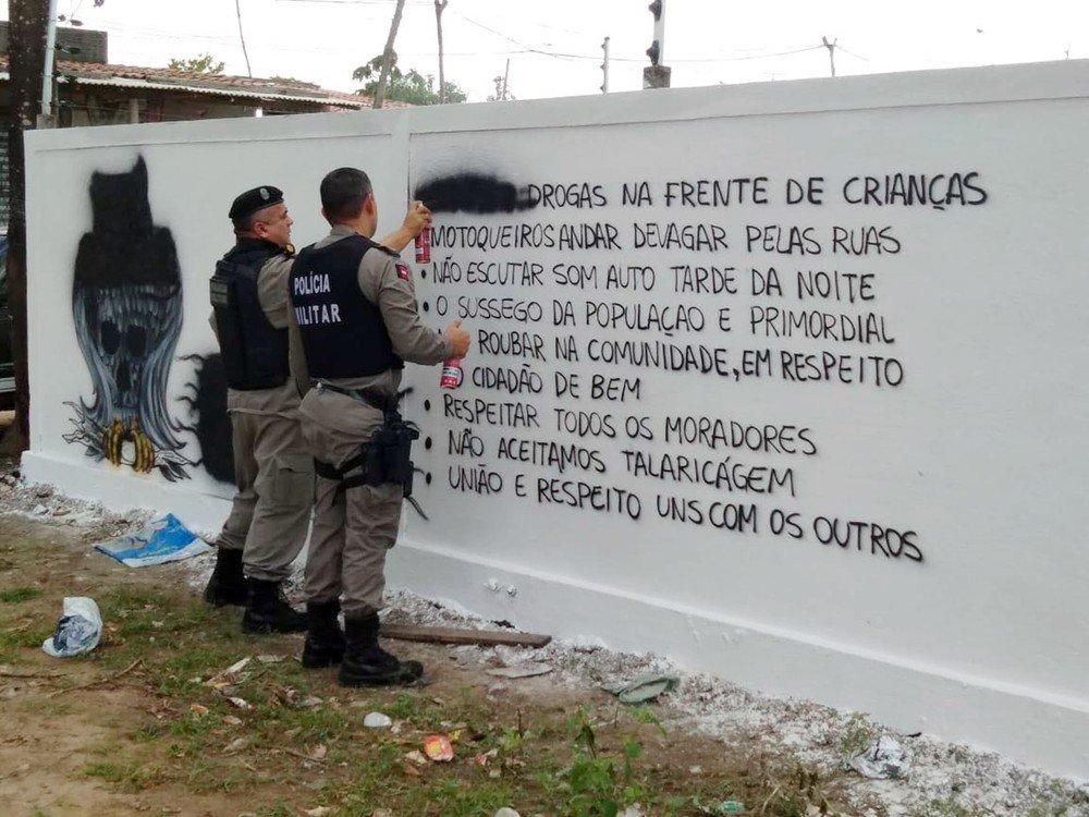 PM acha 'código de ética' de facção pintado em muros de comunidades de João Pessoa https://t.co/1FmdjtuJfT #G1