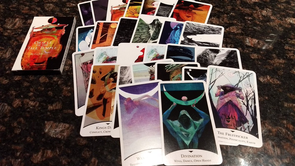 Got my Tall Temple Oracle deck from @OneBadKing. It&#39;s beautiful. Great work Eli.<br>http://pic.twitter.com/aGjJ6QiSGn