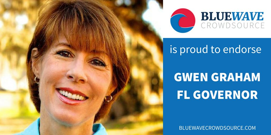 BWCS is proud to endorse @GwenGraham for #FLGov  Learn more about Gwen on our website:  http:// bluewavecrowdsource.com/candidates/gwe n-graham &nbsp; … <br>http://pic.twitter.com/vP95I14KxH