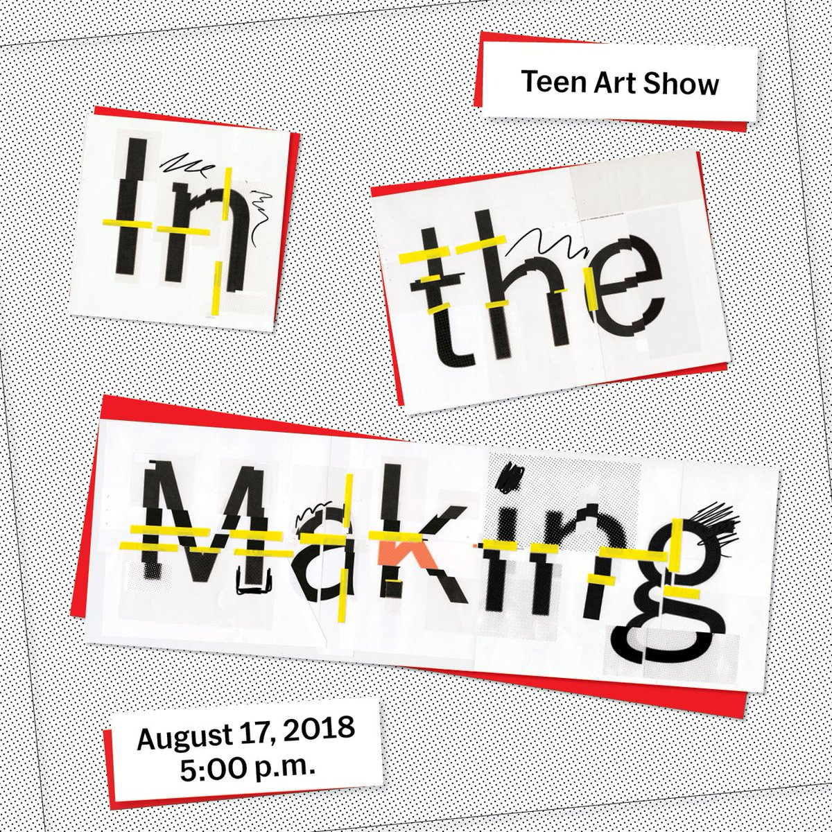 "This Friday, our experimental studio art program for NYC high school students, ""In the Making,"" culminates with the opening night of our Teen Art Show! Join @MoMATeens in celebrating the artwork and community created this summer:  http:// mo.ma/2KVyM95  &nbsp;   #MoMALearning<br>http://pic.twitter.com/P1njYpiQjN"