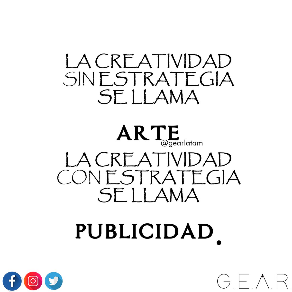 #Emprendimiento #MarcaPersonal #Marketing #Diseno #Branding #Consultoria #Tecnologia #Itil #Proyectos #Infraestructura @gearlatam WhatsApp 316-280-9718<br>http://pic.twitter.com/2fHq37t6uk