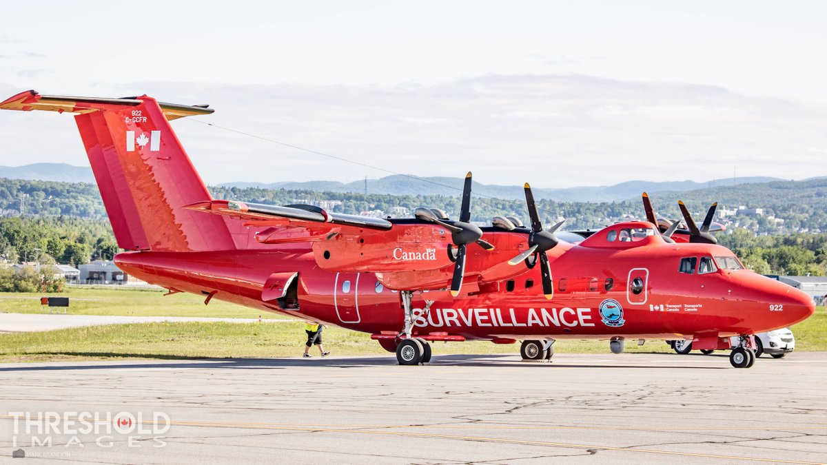 Transport Canada's Dash 7 parked in Quebec City during the G7 summit. It was used to keep the area around the summit's location secure during the meeting. : Mark Brandon   #ThresholdImages #G7Summit<br>http://pic.twitter.com/hcwQuxPVzz