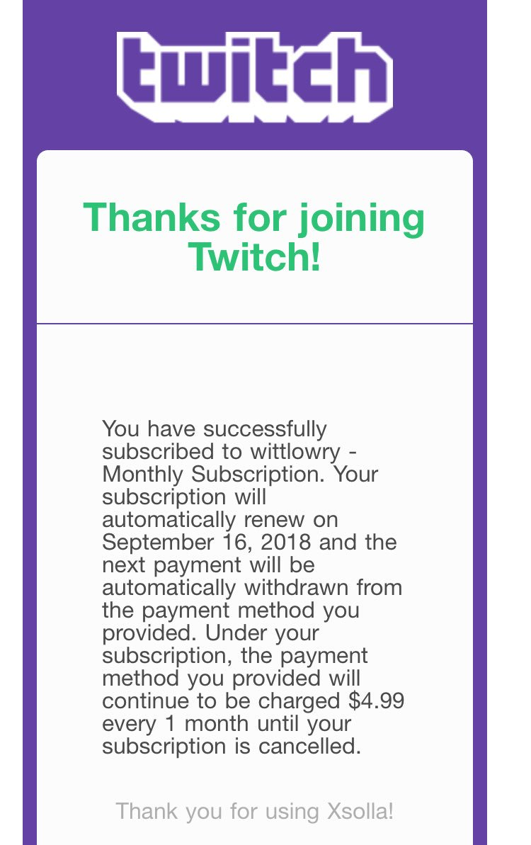 I can officially say I was the first subscriber on @WittLowry's twitch, lets goooo!! <br>http://pic.twitter.com/Wol43XdkGW