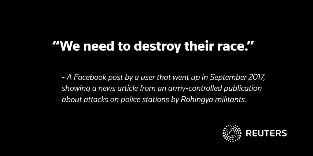 A @Reuters investigation gets inside the secretive monitoring operation set up by Facebook to combat hate speech in Myanmar and reveals why it is failing to stop the problem https://t.co/DPXgoEuuyg @stecklow