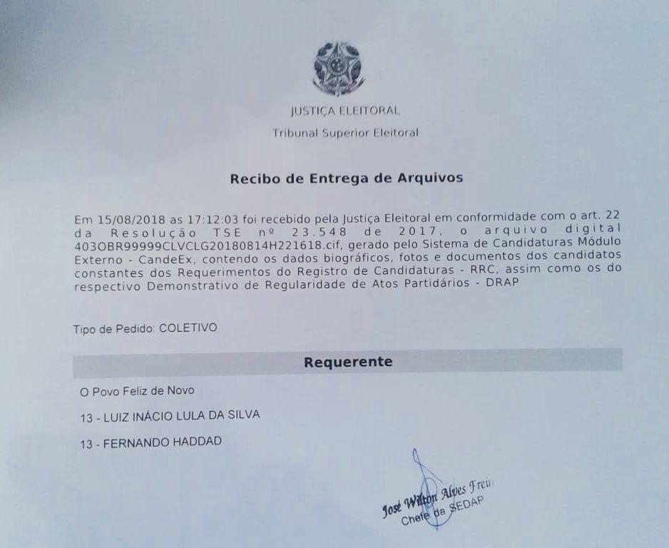 Agora é pra valer: @LulapeloBrasil é o nosso candidato à Presidência da Repúblic#LulaLivrea#LulaÉCandidato.#LulaOficial #OPovoFelizdeNovo #OBrasilFelizDeNovo