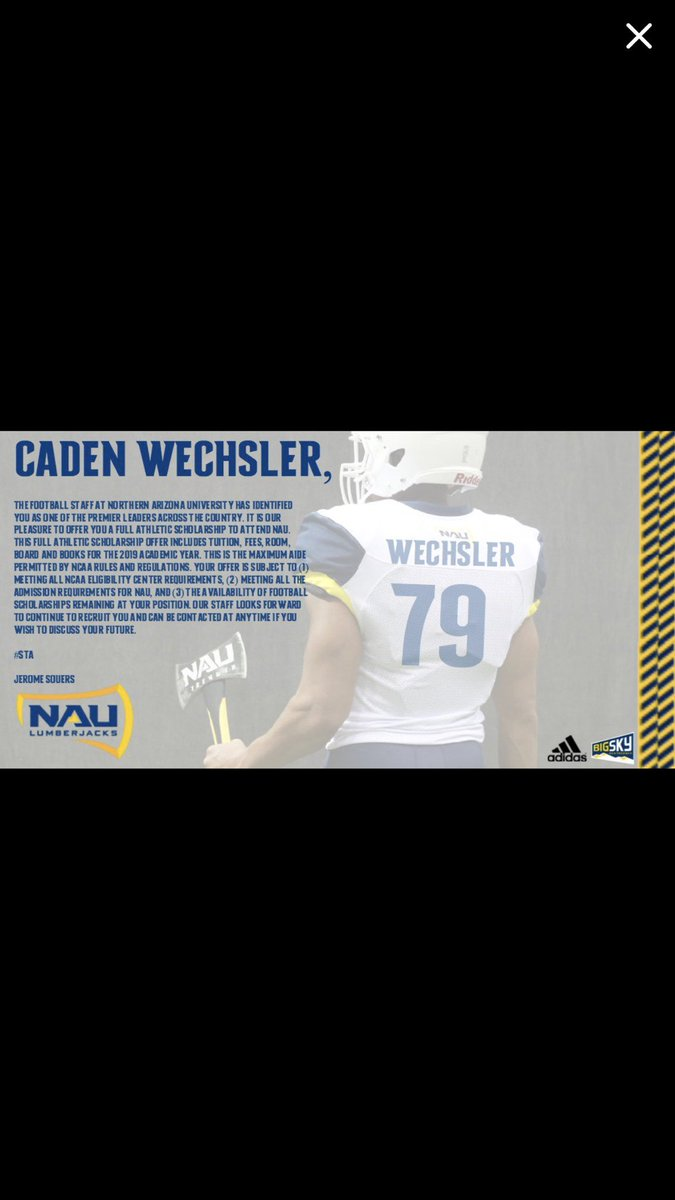 I am beyond excited to announce I have received my first D1 Scholarship offer from NAU.  @naucoachdavis #GoJacks #SharpenTheAxe<br>http://pic.twitter.com/kw8xGDVmPp