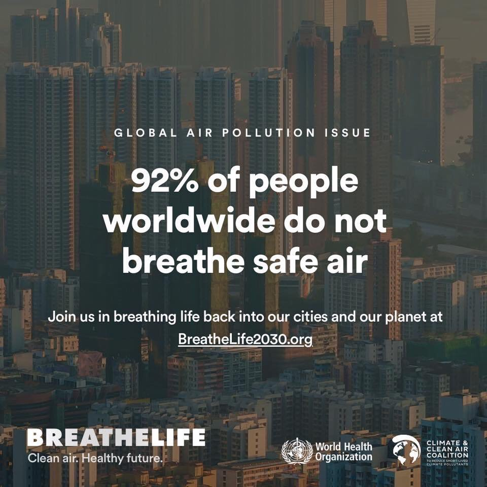 92% of people worldwide do not breathe safe air.  #AirPollution can be deadly. https://t.co/Dcm5E39bsq  #BreatheLife