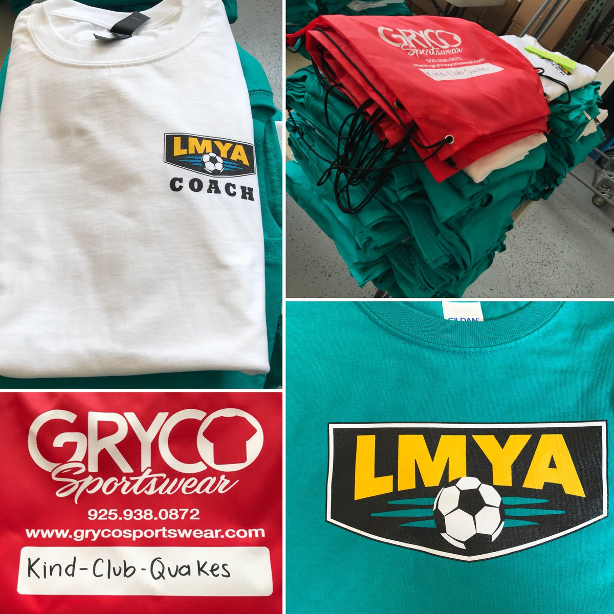 edde631ec3b We are just bundling things up for Lafayette Moraga Youth Association  (LMYA) Soccer. Putting them all together with some Gryco Sportswear Cinch  Bags.