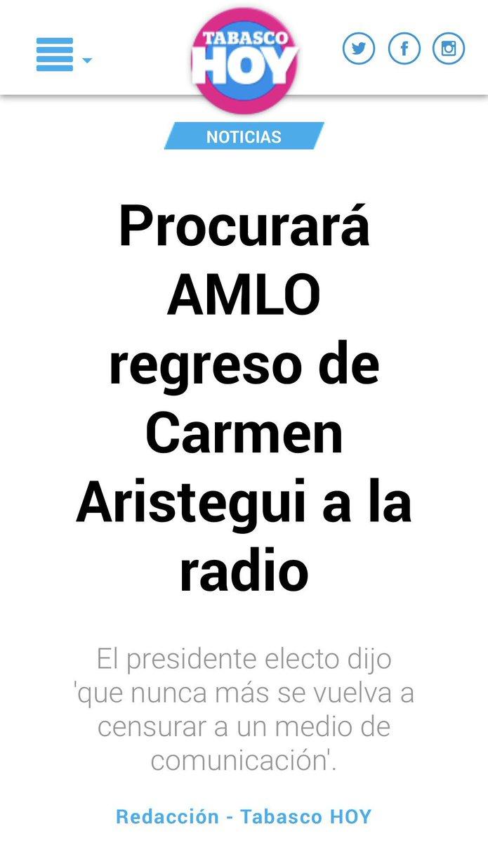 """Lopez Obrador PROCURARÁ el regreso de @AristeguiOnline y @JGutierrezVivo a la radio.   """"Ya estoy haciendo lo que corresponde""""   [vía @TabascoHOY]  👇🏼"""