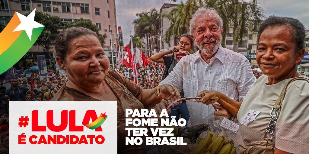 Saiba minuto a minuto os detalhes do registro da candidatura de @LulapeloBrasil no link 👉🏿👉🏼https://t.co/gRlpNVNMJ5👉🏾#LulaÉCandidato