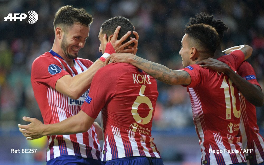 L'Atlético remporte sa 3e Supercoupe d'Europe en battant le Real 4-2 après prolongation #AFP
