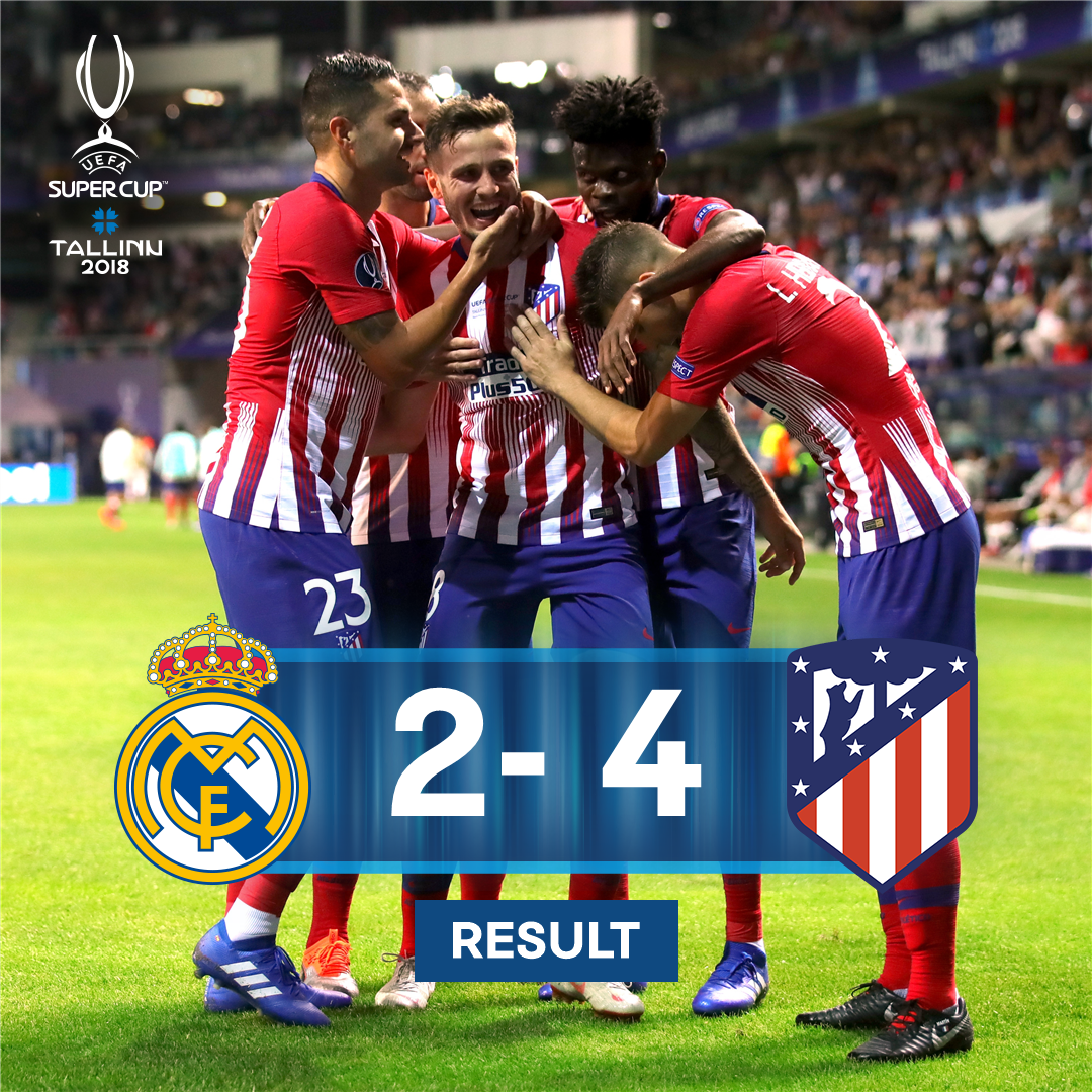 ⏰ RESULT ⏰  Atlético beat rivals Real Madrid in extra time to win the #SuperCup for the 3rd time in their history! �� https://t.co/ByxWLzSXKg