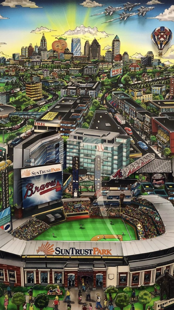 TODAY! @Fazzino poster signing for the public from 4-5pm at the @Braves Clubhouse Store!    Fans with a ticket to tonight's game can also attend a signing from 6-7pm.   Check out the Charles Fazzino Atlanta Braves Art Collection available now at the @Braves Clubhouse Store!<br>http://pic.twitter.com/kzR0YZcQw6
