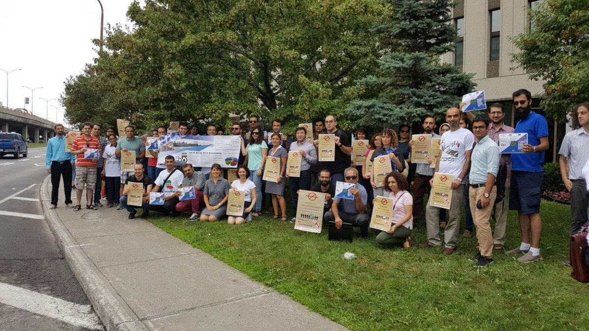 Thanks to everyone who came out to the demonstration in front of @JustinTrudeau's office to stand against the #discrimination Iranians are facing regarding the delays in their applications; #Quebec_Skilled_Worker #DelayedIranianApplications; in Canada.<br>http://pic.twitter.com/RwXiY79QsE