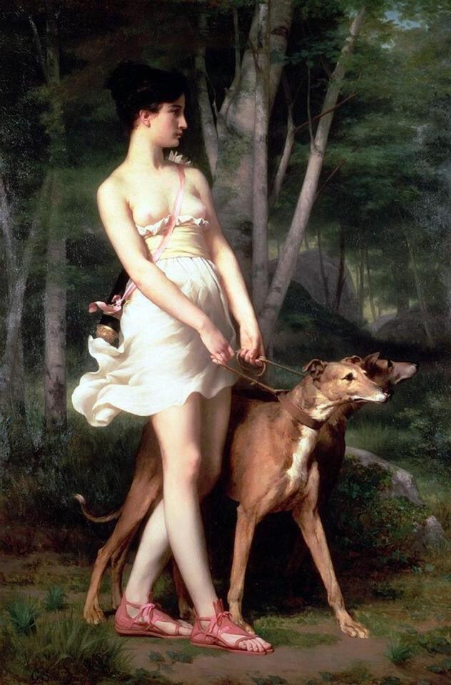 Namjoon: Gaston Casimir Saint-Pierre (1833-1916), Diana the Huntress  @BTS_twt #LOVE_YOURSELF <br>http://pic.twitter.com/KdLALotr7t