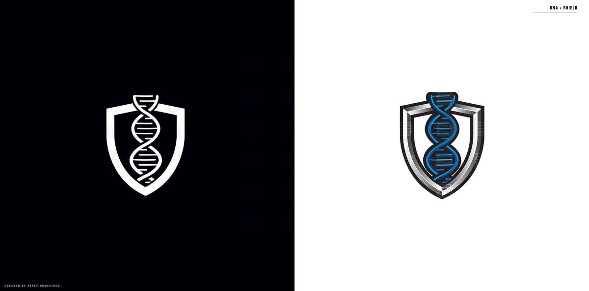 DNA + Shield Logo for sale! Re-post Likes And Retweets Appreciated Portfolio:  https://www. behance.net/StarFishDesigns  &nbsp;  <br>http://pic.twitter.com/DwTOnIdSPG