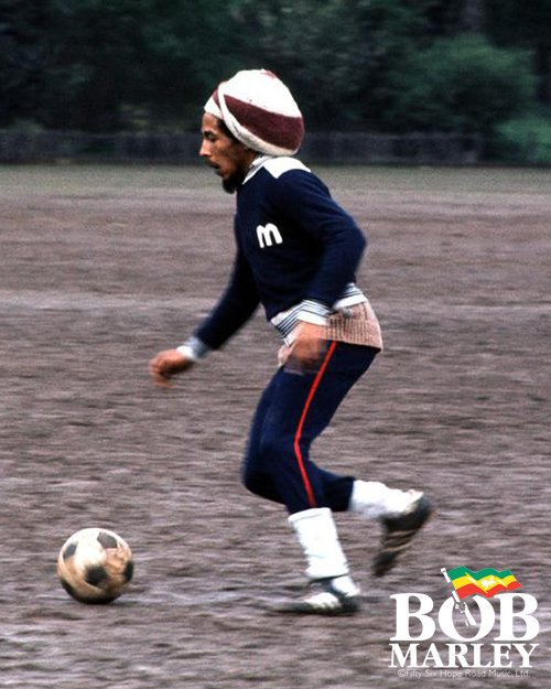 Football is... a whole world. a whole universe to itself. Me love it because you have to be skillful to play it. #bobmarleyquotes
