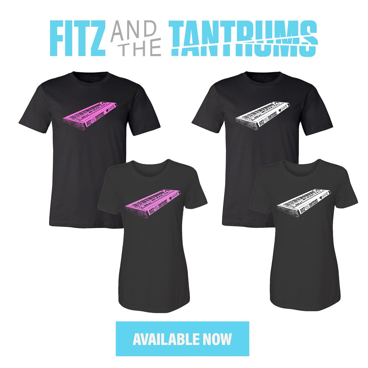 🚨 new tee design - available online today 🚨  End the summer in style with this new tee design by Fitz And The Tantrums keyboardist Jeremy Ruzumna! Inspired by vintage synths from the 80's, these designs are available in both unisex and ladies t-shirts -> https://t.co/BR8nxuw4GC