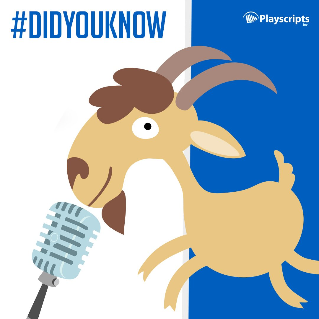 #DidYouKnow: The word tragedy comes from a Greek expression meaning goat song. Visit us at: https://t.co/ej4G4QRNnK https://t.co/6WjlKuDXZi