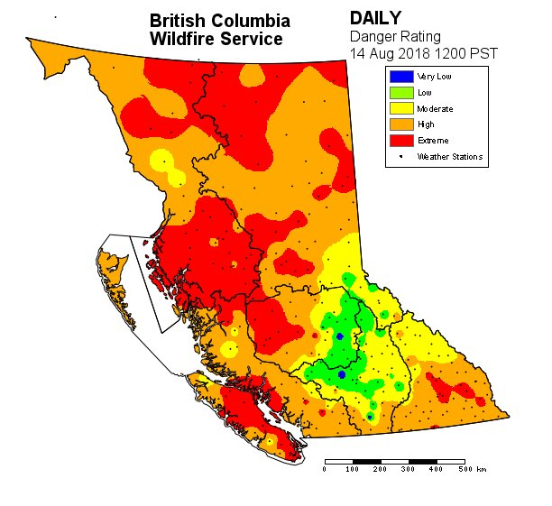 Bc Forest Fire Map BC Wildfire Service on Twitter: