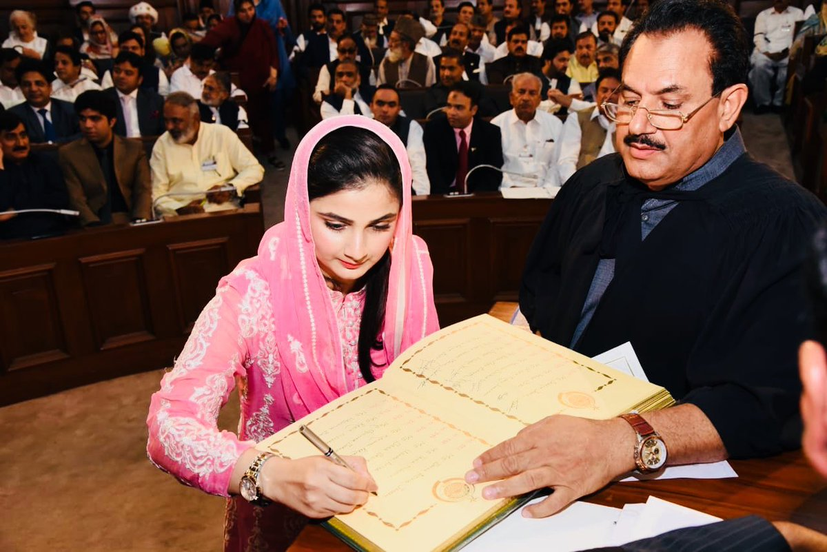Honourable moment to be named among the other respectable members of Punjab Assembly. Grateful to PML-N leadership for showing their faith in me especially my mentor and inspiration @MaryamNSharif &amp; Party President @CMShehbaz - thank you everyone for your kind words too!<br>http://pic.twitter.com/DNhEaUY8jL