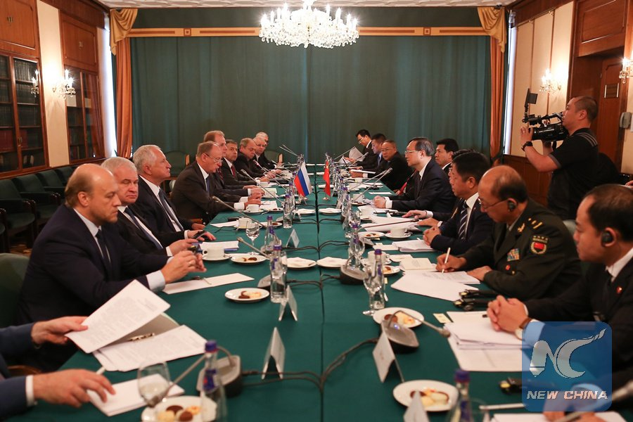 Chinese, Russian senior officials vow to jointly safeguard &quot;just and equitable&quot; international order  http:// xhne.ws/fwl2P  &nbsp;  <br>http://pic.twitter.com/y0CvCC20bL