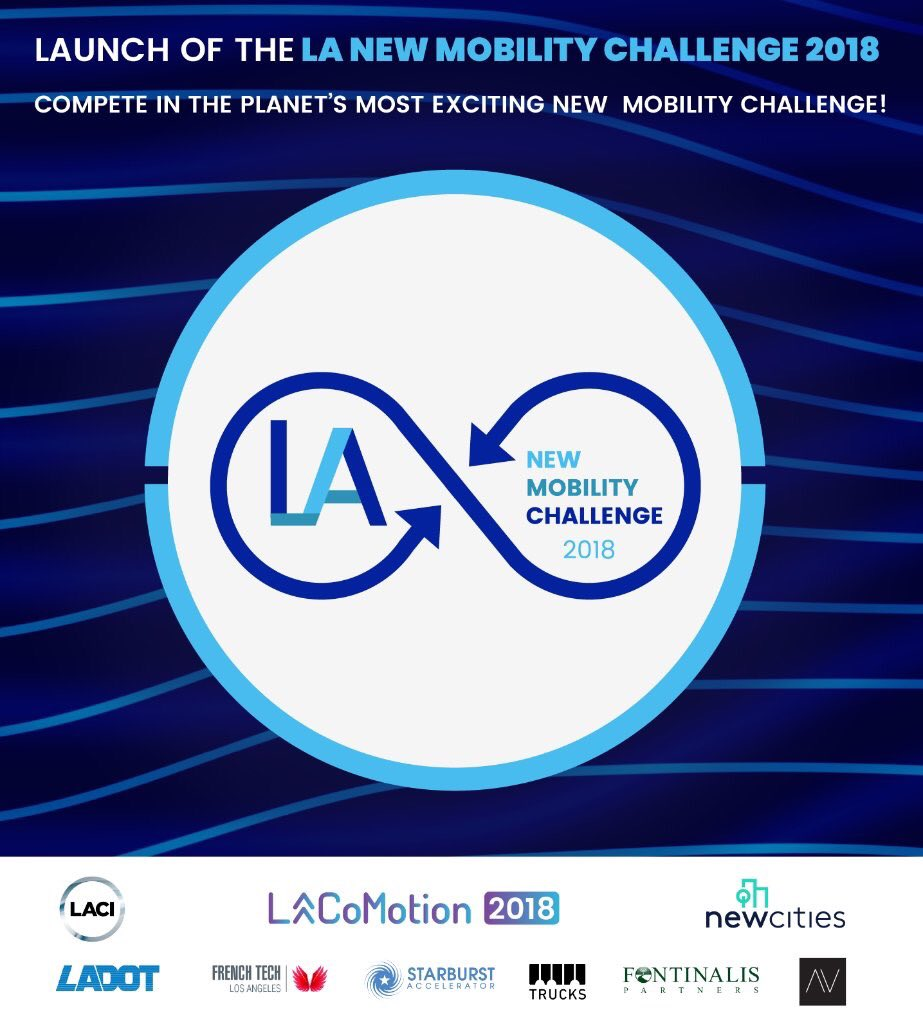 . @LA_CoMotion @LACIncubator &amp; @NewCitie launched the LA New Mobility Challenge 2018 #new #mobility #innovation #urbantech #iot #SmartCities #techLA  https://www. lacomotion.com/wp-content/upl oads/2018/08/LANMC2018-Press-Release.pdf &nbsp; … <br>http://pic.twitter.com/tAJuw5YqqH