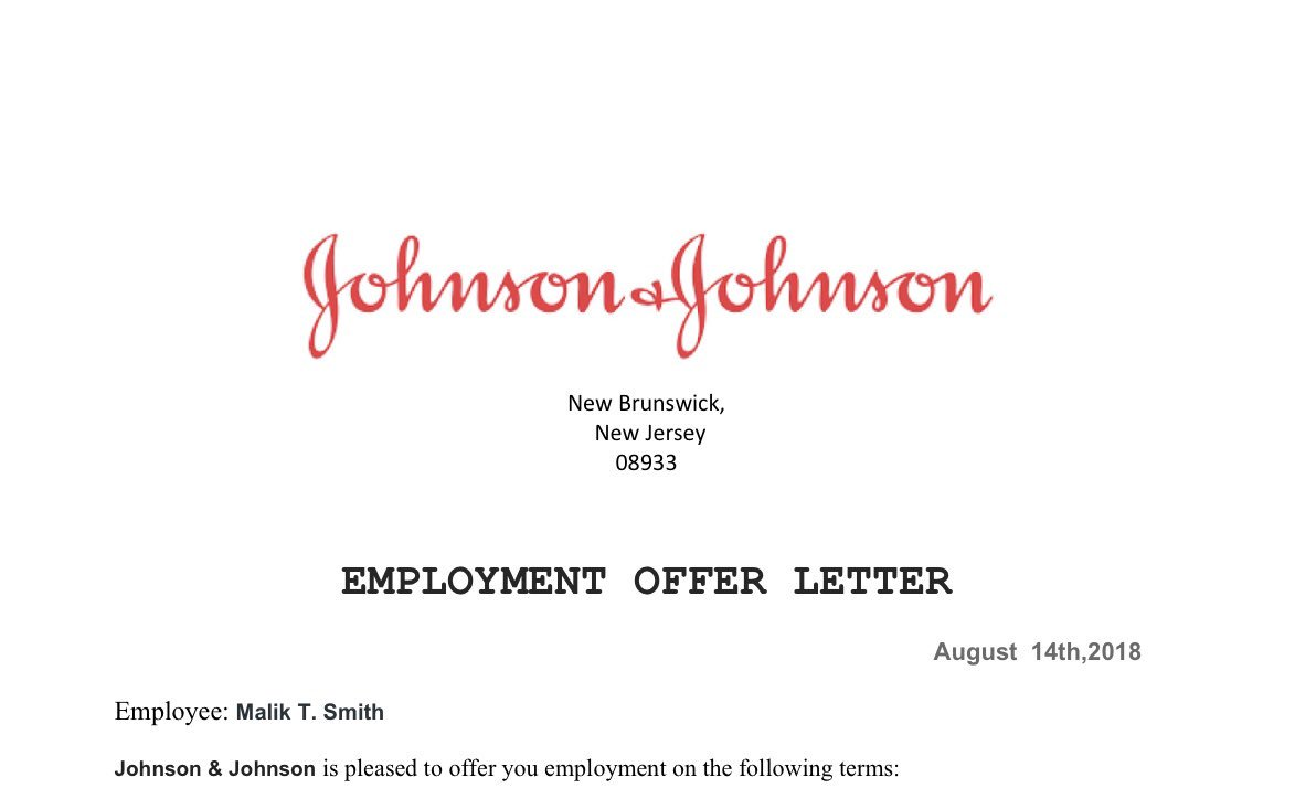 Blessed and humbled to have been recently hired by Johnson &amp; Johnson Pharmaceutical Manufacturing Company as the Public Affairs Specialist for the Department Of Administrative Management. #MalikTheHumanitarian. Hard work always pays off.  Matthew 6:33<br>http://pic.twitter.com/k4l6gIwlAg