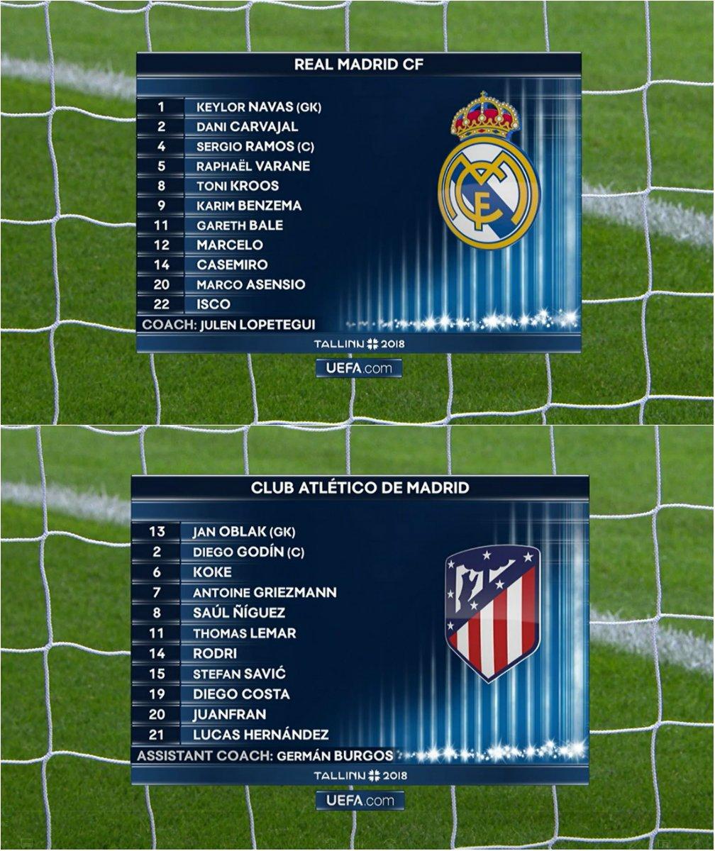 UEFA SuperCup 2018: Real Madrid Vs Atletico Madrid DkqU-g0W4AACvhT