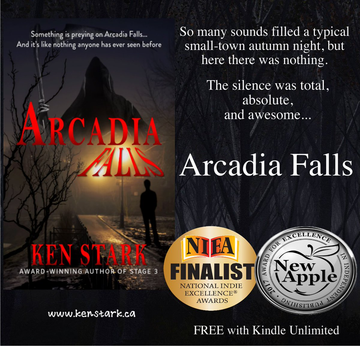 Something is desperately wrong in Arcadia Falls...   http:// amazon.com/dp/B077VVQVL4  &nbsp;    #horror #mystery #paranormal #monster #YA #thriller #IARTG   @NewAppleAwards  Read #ArcadiaFalls for #FREE on #KindleUnlimited<br>http://pic.twitter.com/19q7Ji33wX