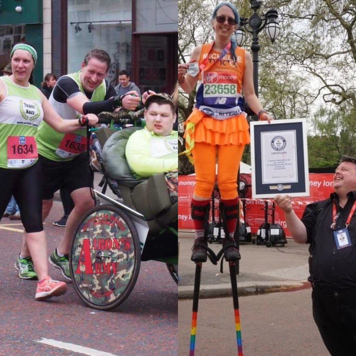 ⁦@TheLastLeg⁩ #isitok that @LondonMarathon think it&#39;s sporting to include a stilts entry but exclude a carer pushing disabled son &#39;because that&#39;s not classed as running!!!!!&#39; #findyourspiritlondon ⁦@richardbranson⁩ ⁦@MayorofLondon⁩ ⁦@TeamKerrNI⁩<br>http://pic.twitter.com/VLvmyBN8l8