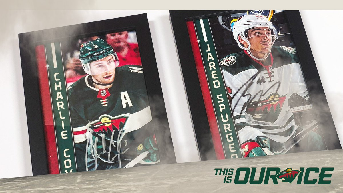 #WinItWednesday: RT to enter to win this set of @CharlieCoyle_3 and Jared Spurgeon #mnwild autographed framed prints. One random winner.