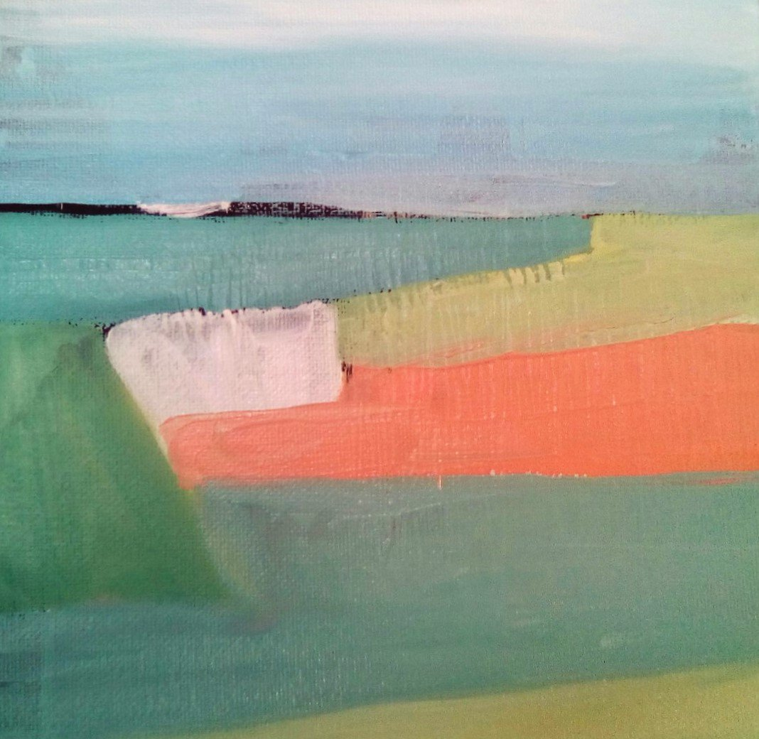 Simple Landscape - acrylic paint on stretched canvas #new #painting #art #abstract #landscape #colour #green #blue #pink #interiordesign #decor #architects #interiors #galleries #kunst #orignalart #unique #wallart #modernart #SIGNED #professionalartist #forsale #vibrant #sky <br>http://pic.twitter.com/eCRS2lCTgn