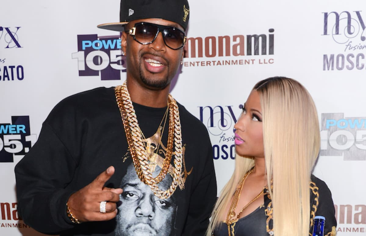 TMZ reporter says there&#39;s footage of Nicki chasing Safaree with knife:  https:// trib.al/9ot5Ca6  &nbsp;  <br>http://pic.twitter.com/cqapuTNo57