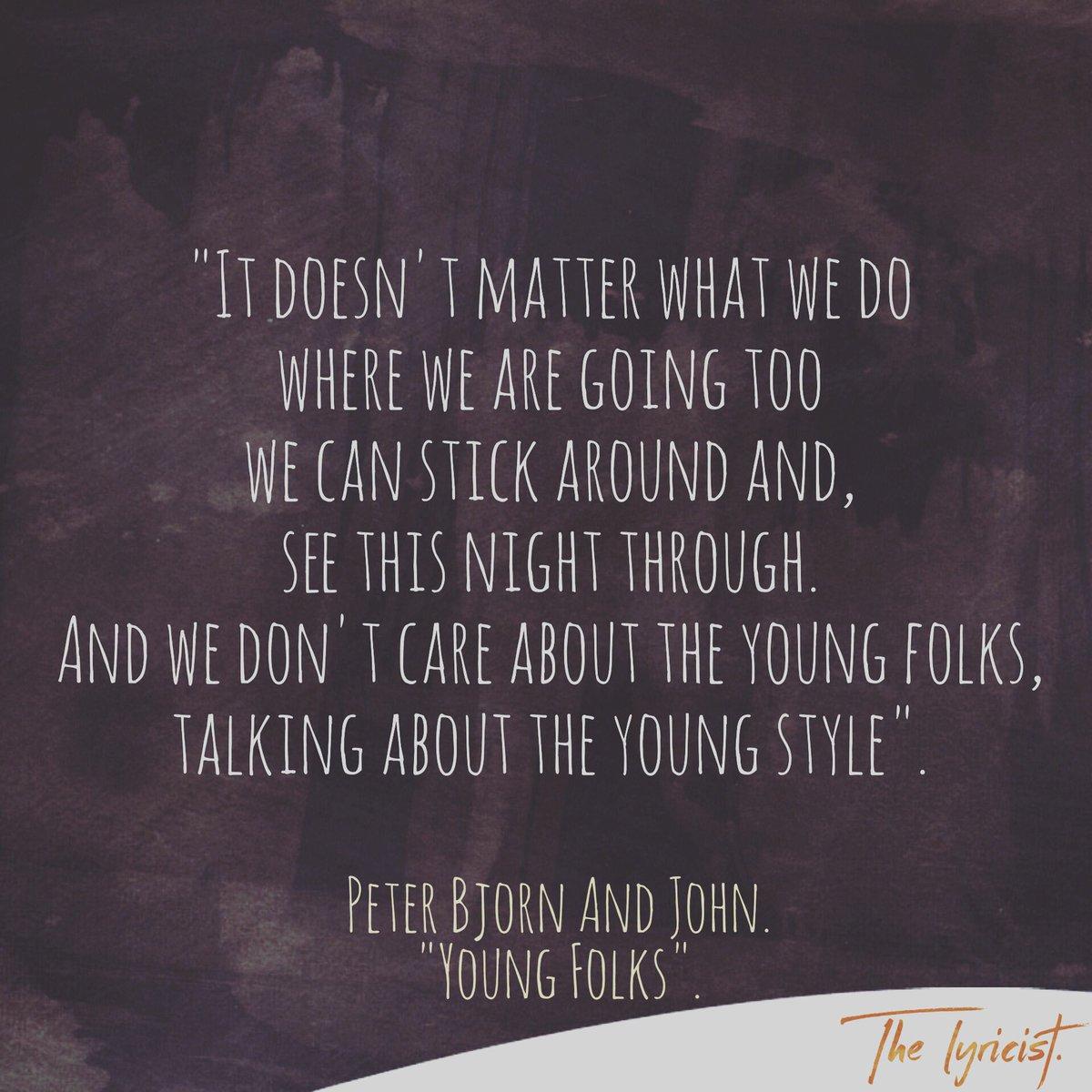 Young folks lyrics