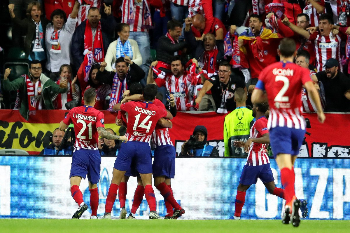 0:49 - Diego Costa's goal for Atlético Madrid vs Real Madrid was the quickest ever scored in a UEFA Super Cup final. Quickfire. #SuperCup