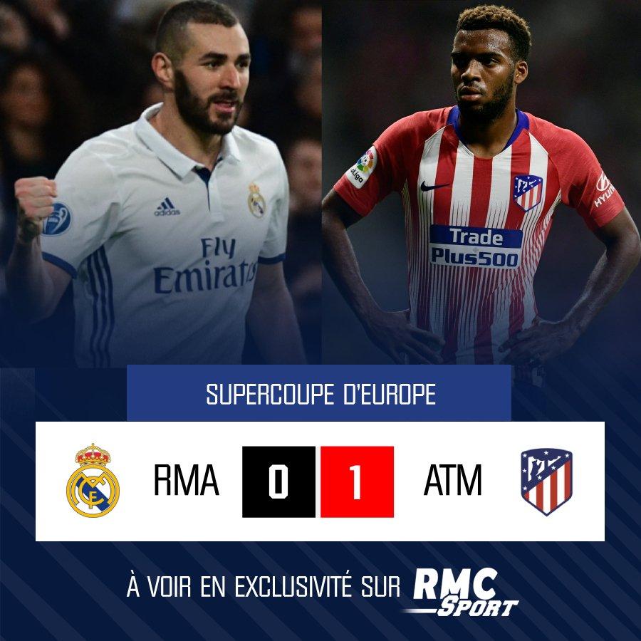 💢 #RMAATM ⚽ Il ne fallait pas arriver en retard. L'Atlético mène au score depuis la 1ère minute de jeu.  Suivez le match : 👉 En TV 📺 https://t.co/HRpQDkjXze  👉 En radio 📻 https://t.co/7via7PmYqa  👉 Sur le web 💻 https://t.co/OKnU8narnH  #rmclive #RMCSport1 #RMC #Supercoupe