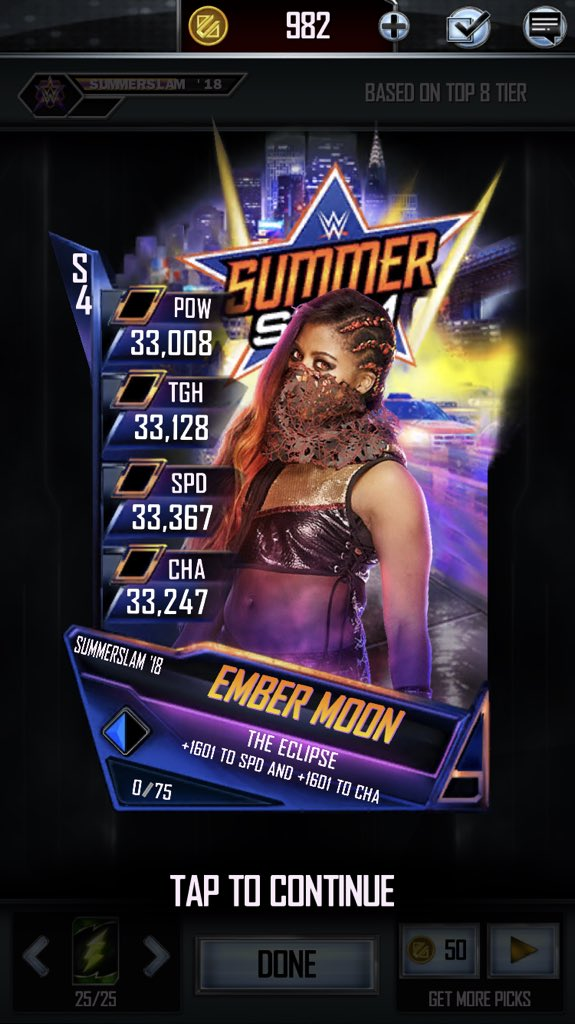 Woohoo new tier pull, how awesome is this @WWEEmberMoon #WWESupercard<br>http://pic.twitter.com/lotAbIZbq4